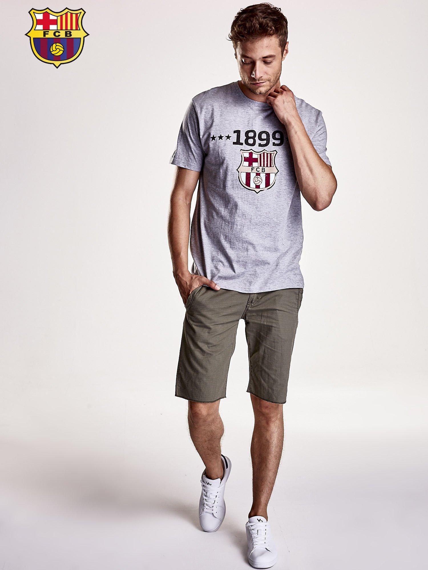 Szary t-shirt męski FC BARCELONA                                   zdj.                                  5