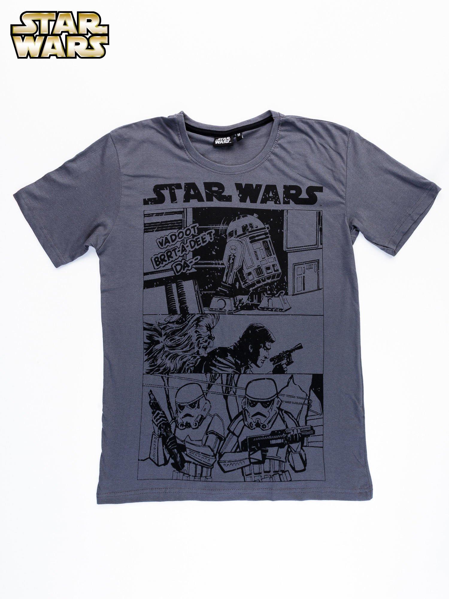 Szary t-shirt męski STAR WARS                                  zdj.                                  9