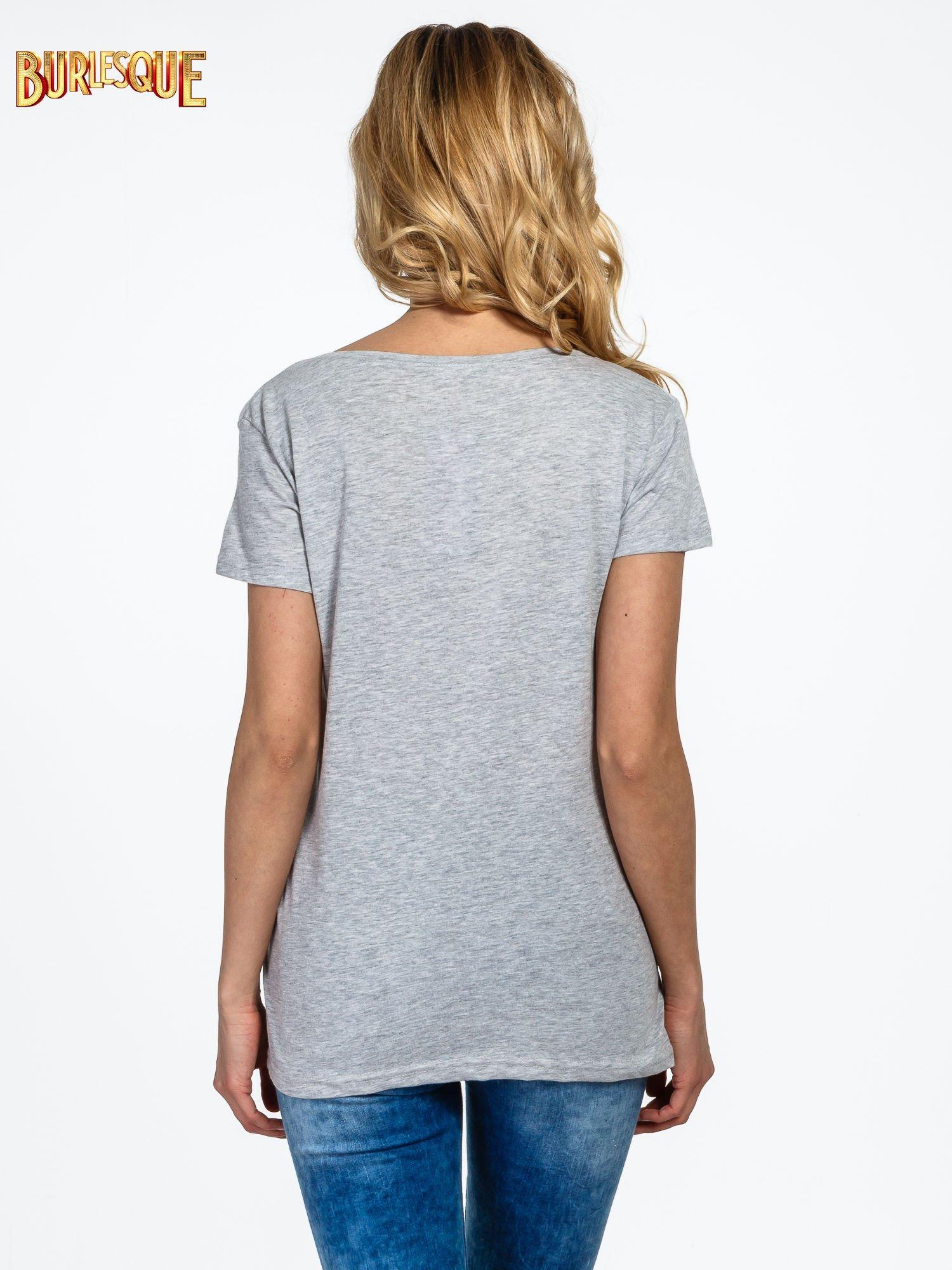 Szary t-shirt z napisem YOU THINK BIG YOU GET BIG                                  zdj.                                  4