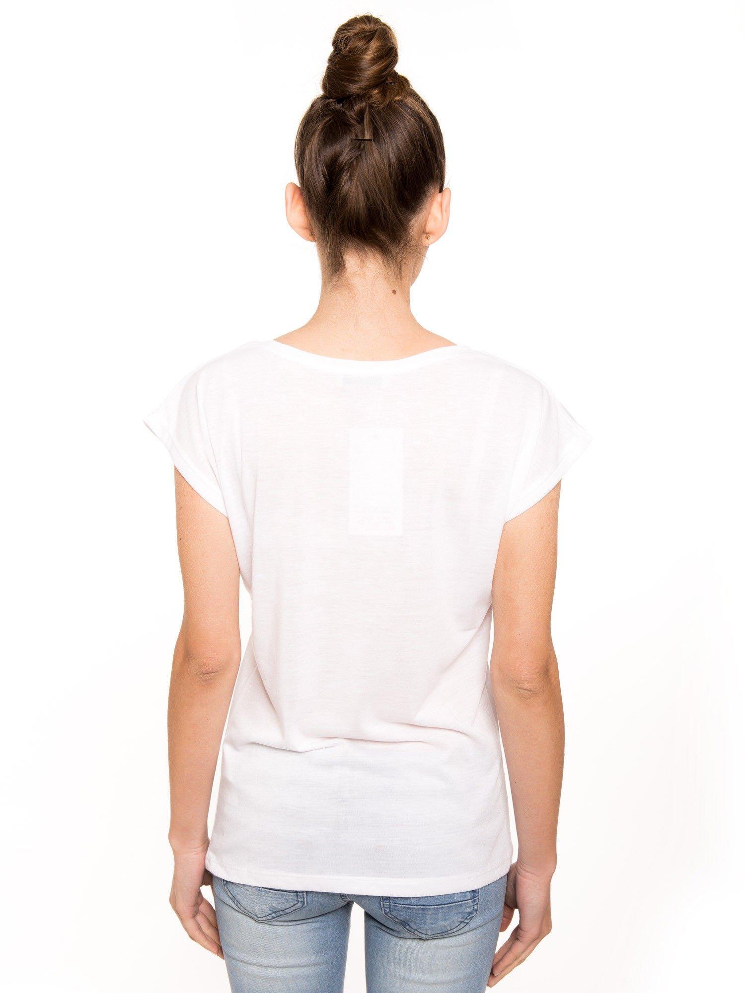 T-shirt hipster z flamingiem                                  zdj.                                  3