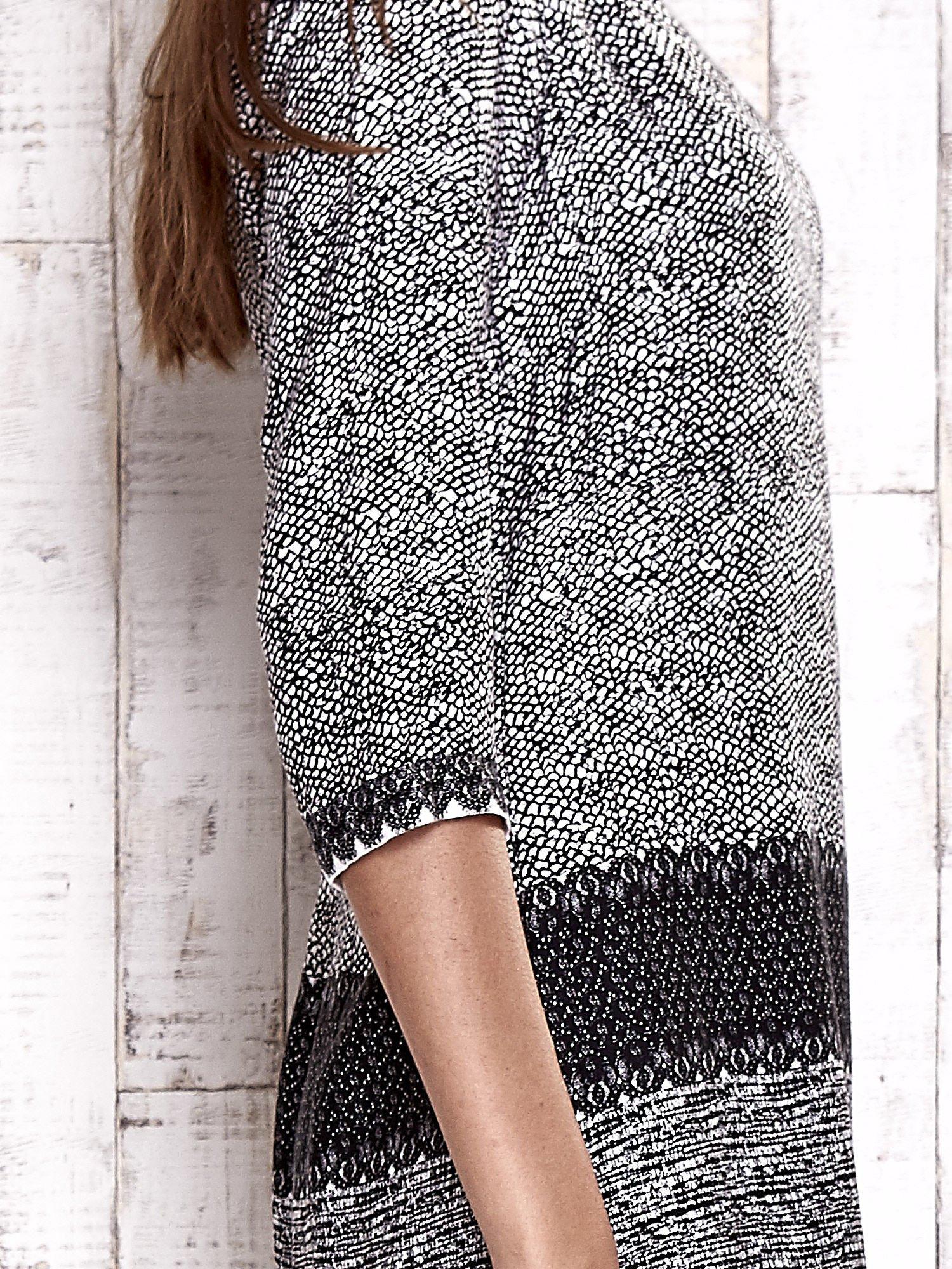 TOM TAILOR Biało-czarna sukienka z graficznym nadrukiem                                  zdj.                                  7