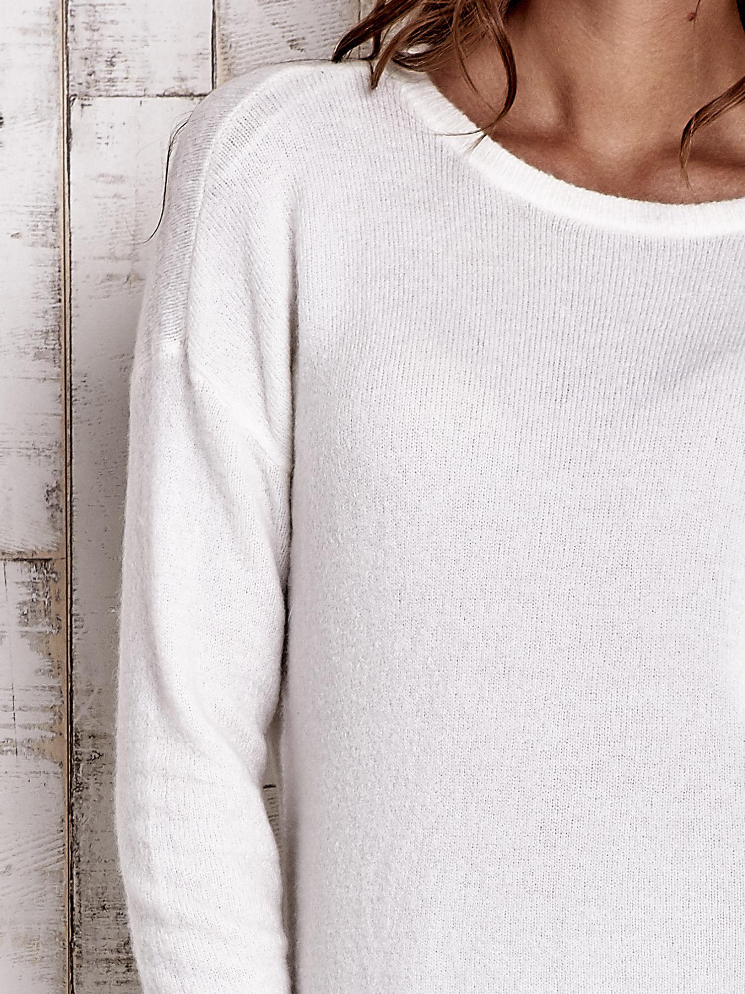 TOM TAILOR Ecru gładki wełniany sweter                                  zdj.                                  6