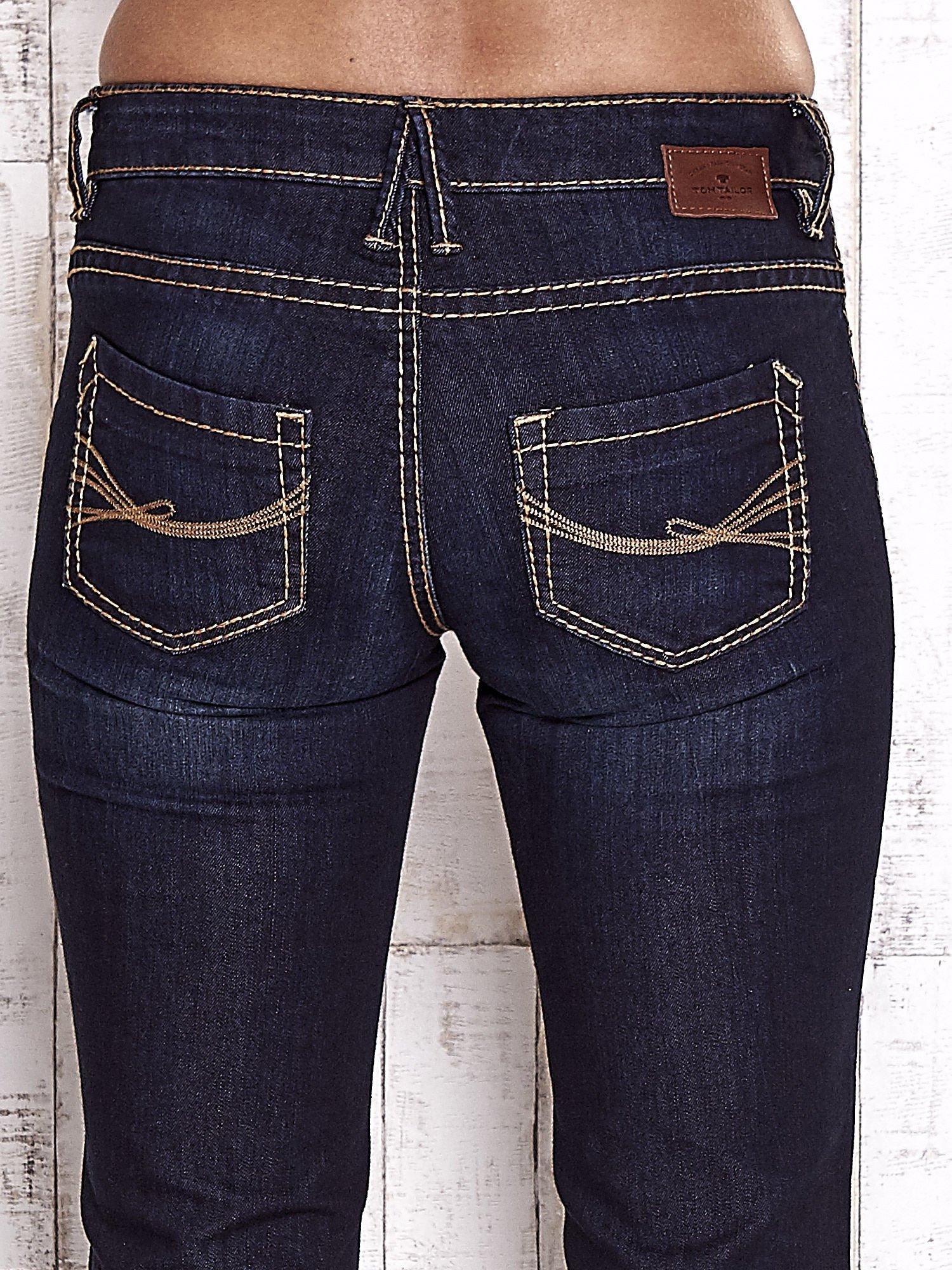 TOM TAILOR Granatowe spodnie jeansowe z prostą nogawką                                  zdj.                                  6