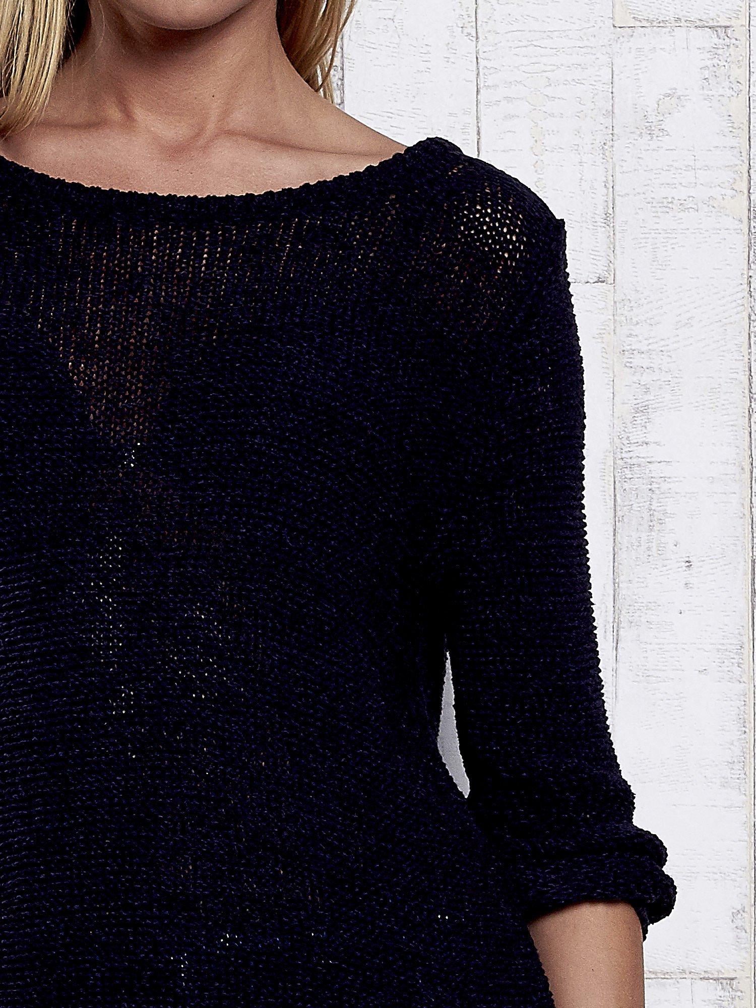 TOM TAILOR Granatowy sweter z kokardą na plecach                                  zdj.                                  7