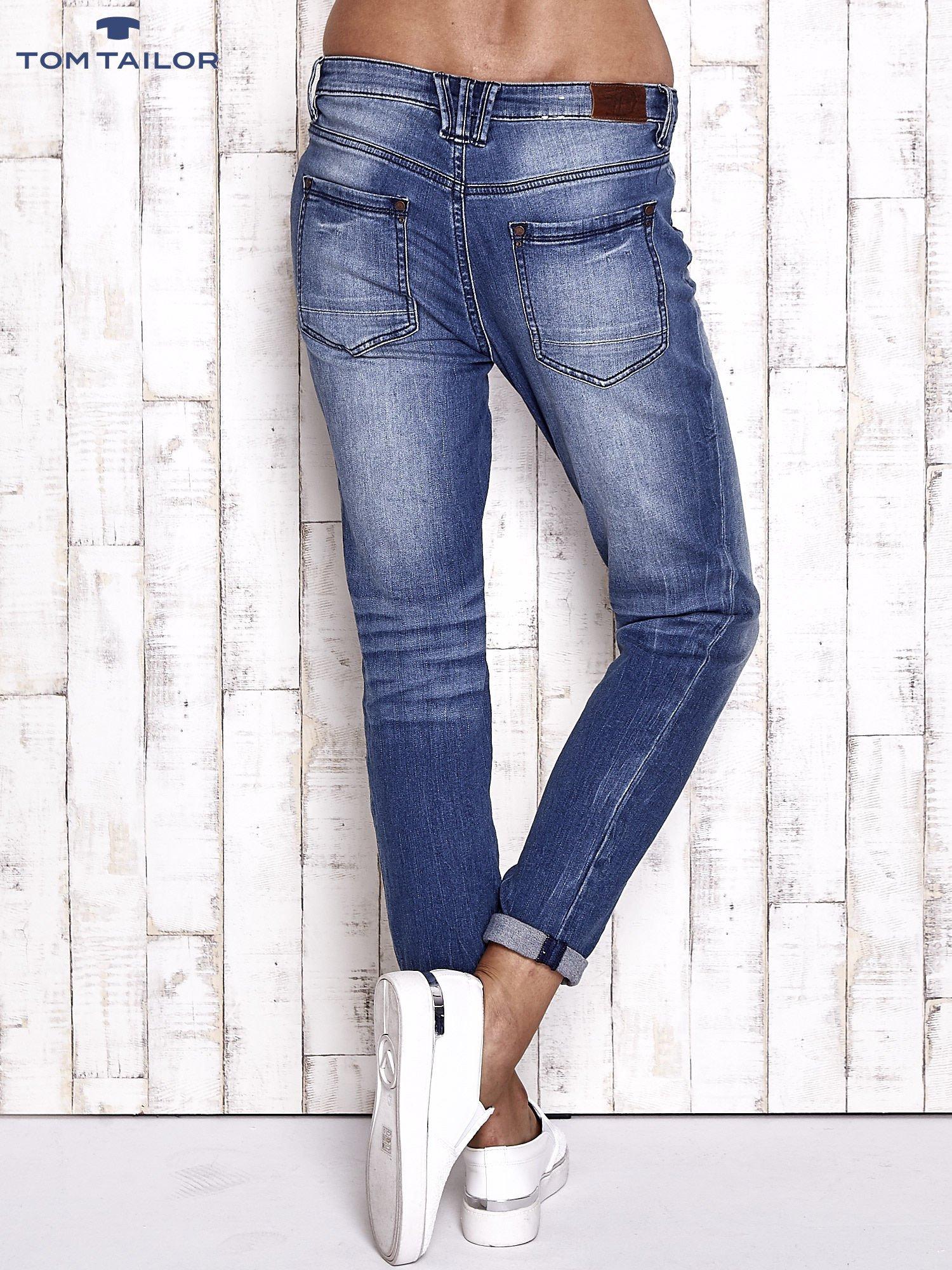 TOM TAILOR Niebieskie modułowe spodnie jeansowe                                  zdj.                                  2