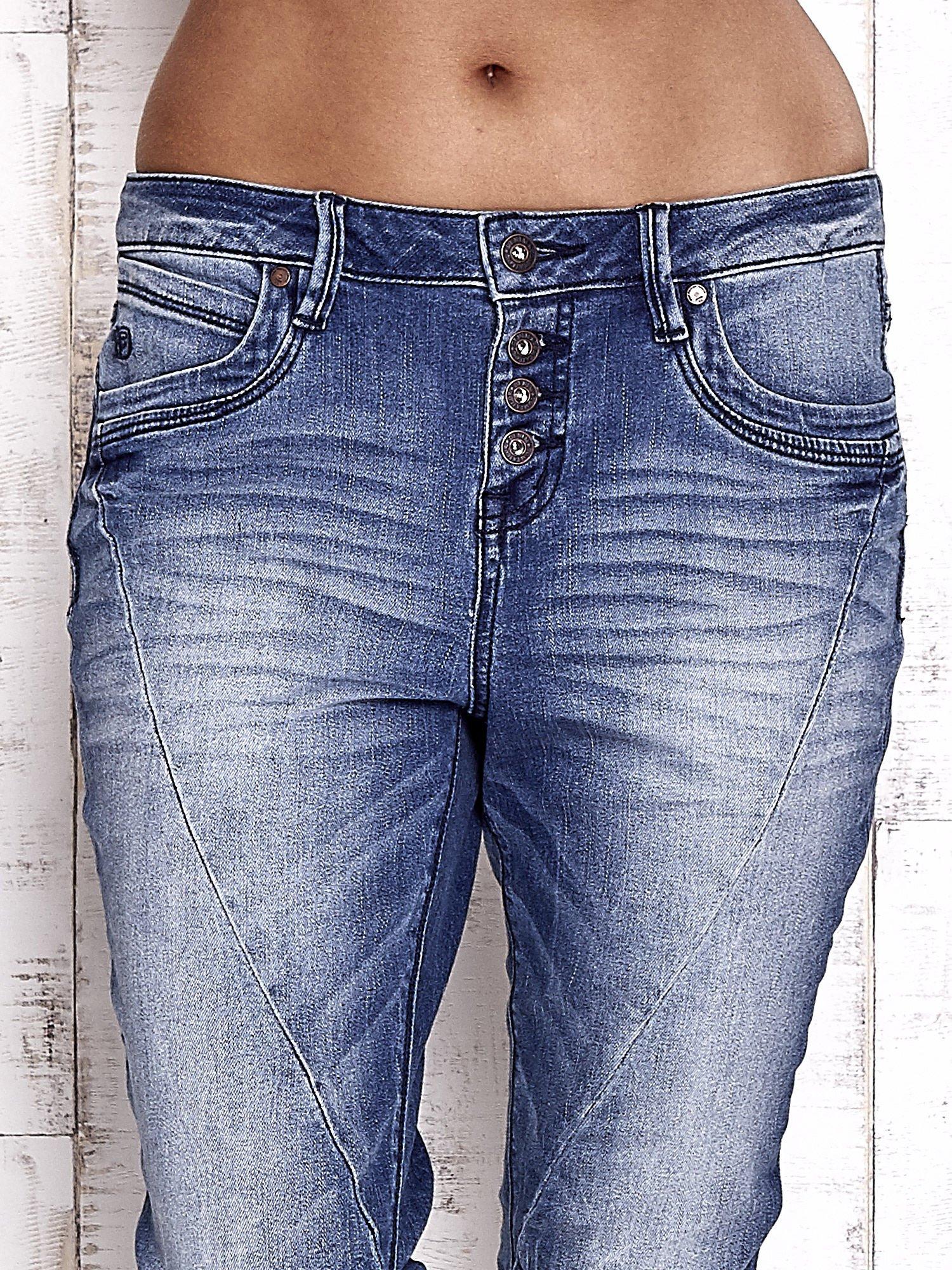 TOM TAILOR Niebieskie modułowe spodnie jeansowe                                  zdj.                                  4