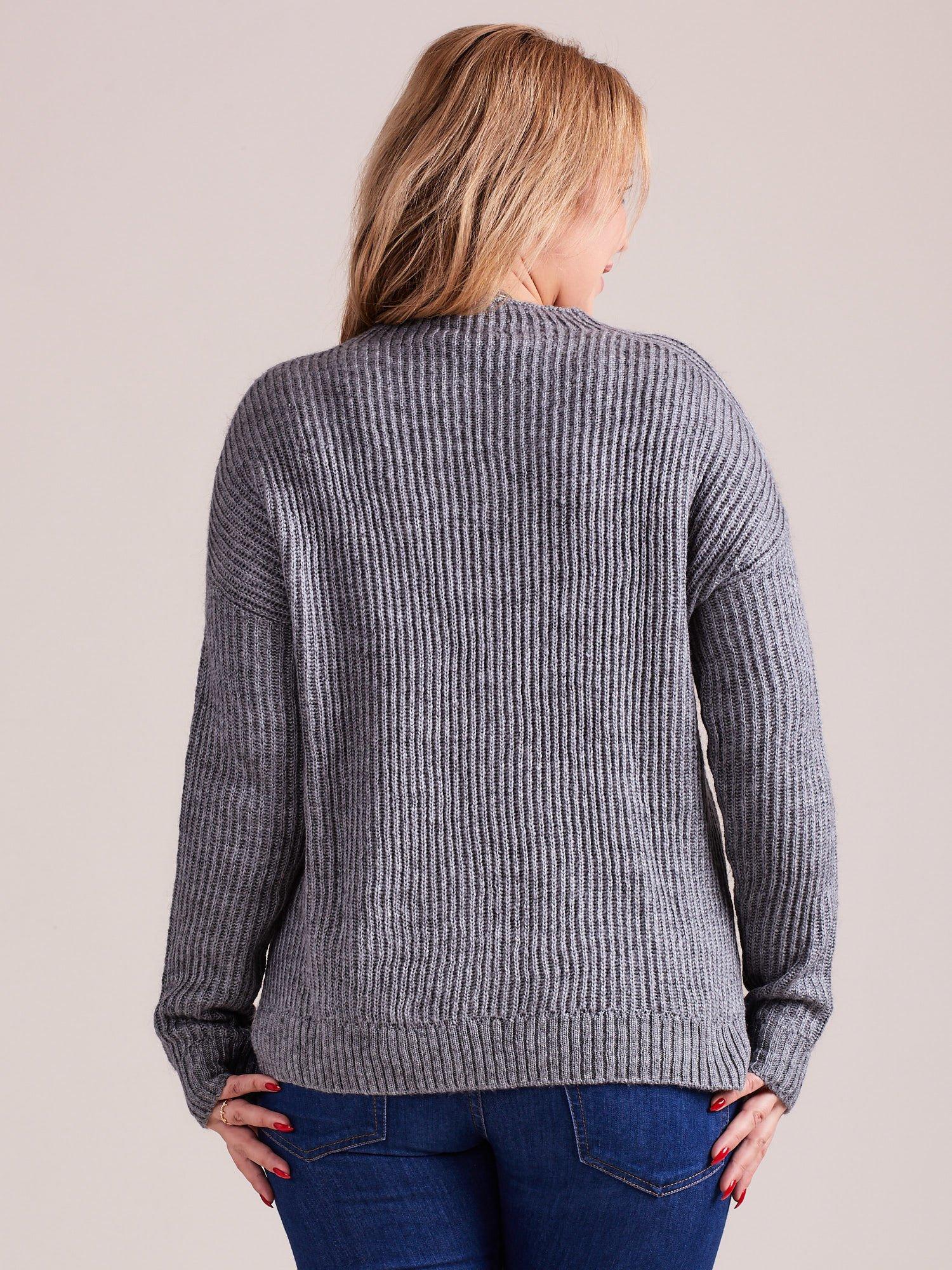 TOM TAILOR Szary wełniany sweter o grubszym splocie                                  zdj.                                  5