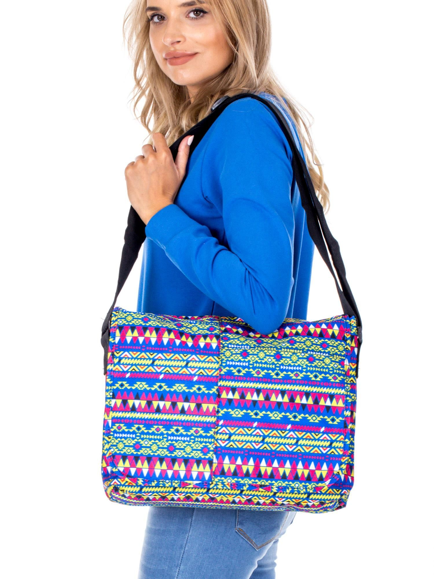47386bd6d0a08 Torba na ramię w azteckie wzory - Akcesoria torba - sklep eButik.pl