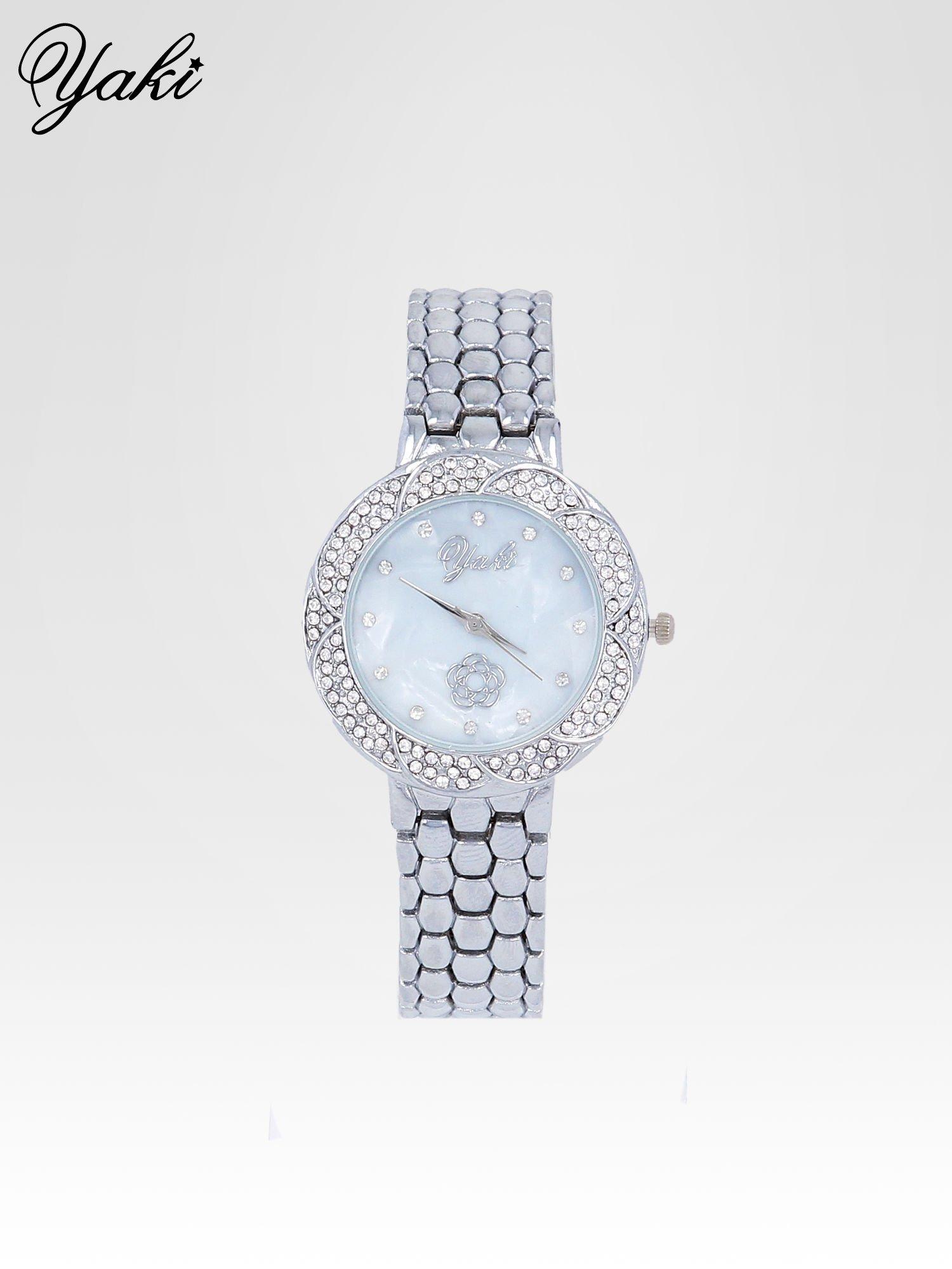 Zegarek damski z cryrkoniową kopertą w kolorze srebra                                  zdj.                                  1