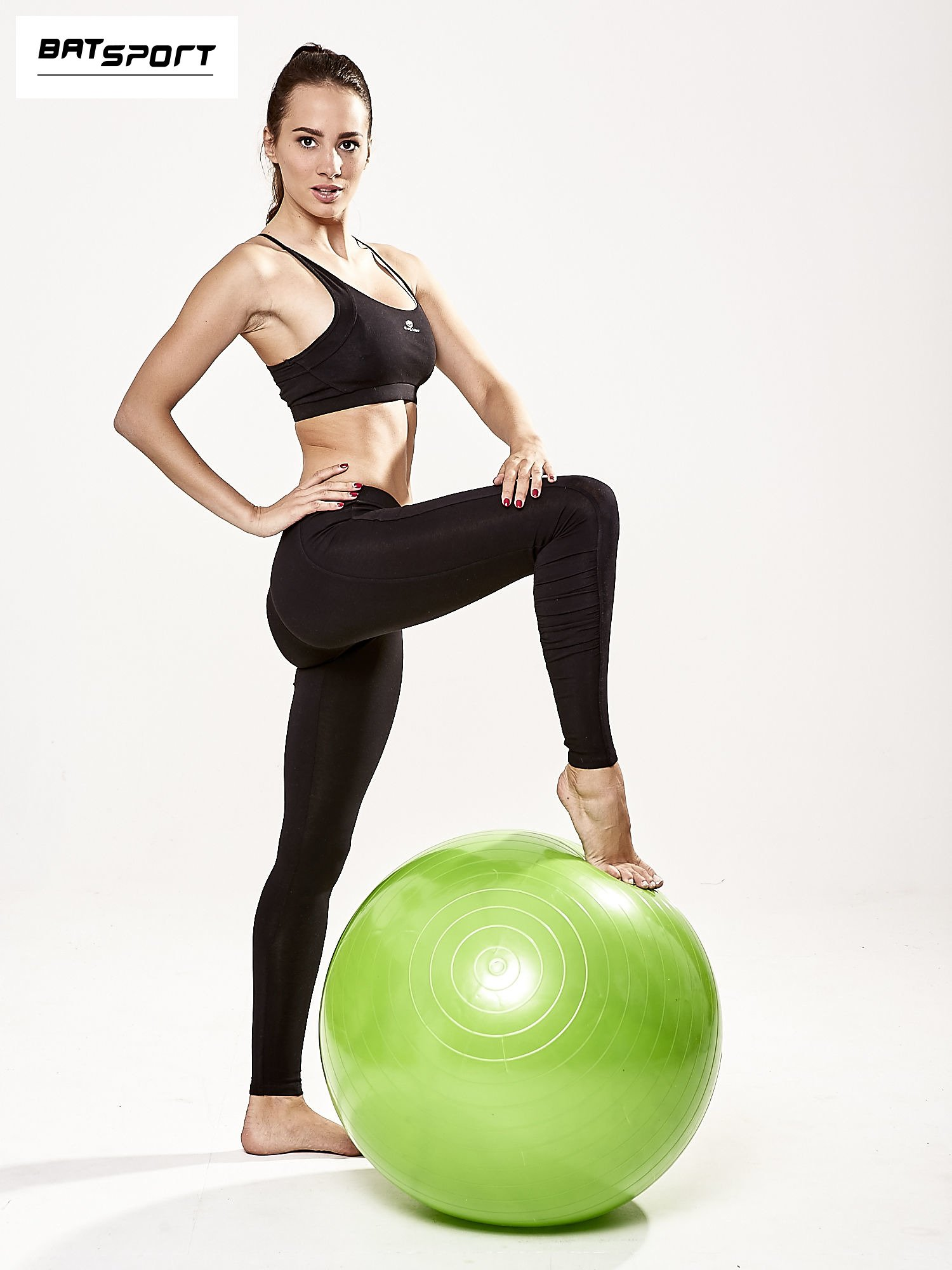 Zielona duża piłka fitness                                  zdj.                                  2