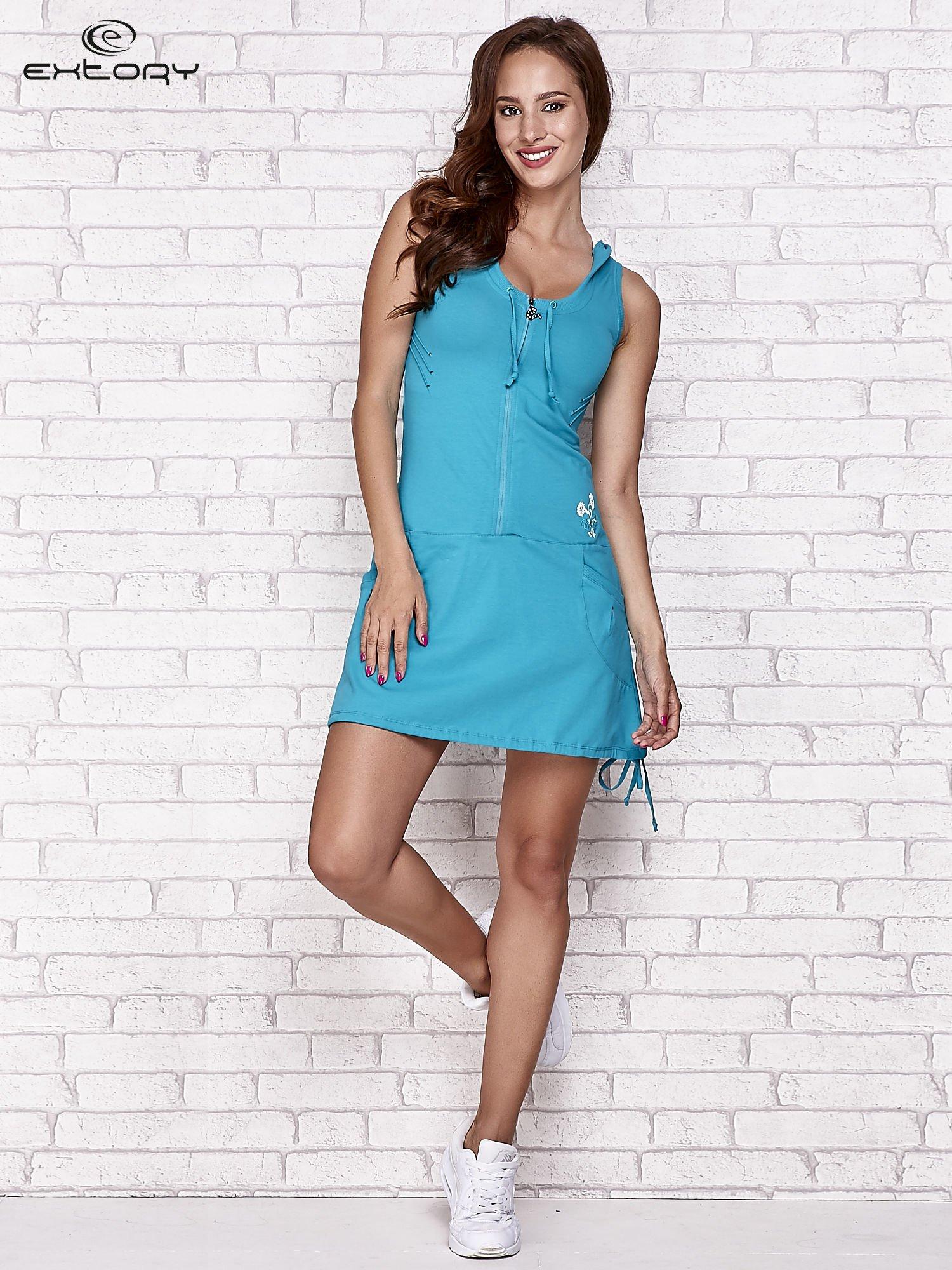 f0172ece61 Zielona sukienka sportowa z kapturem - Sukienka na co dzień - sklep ...