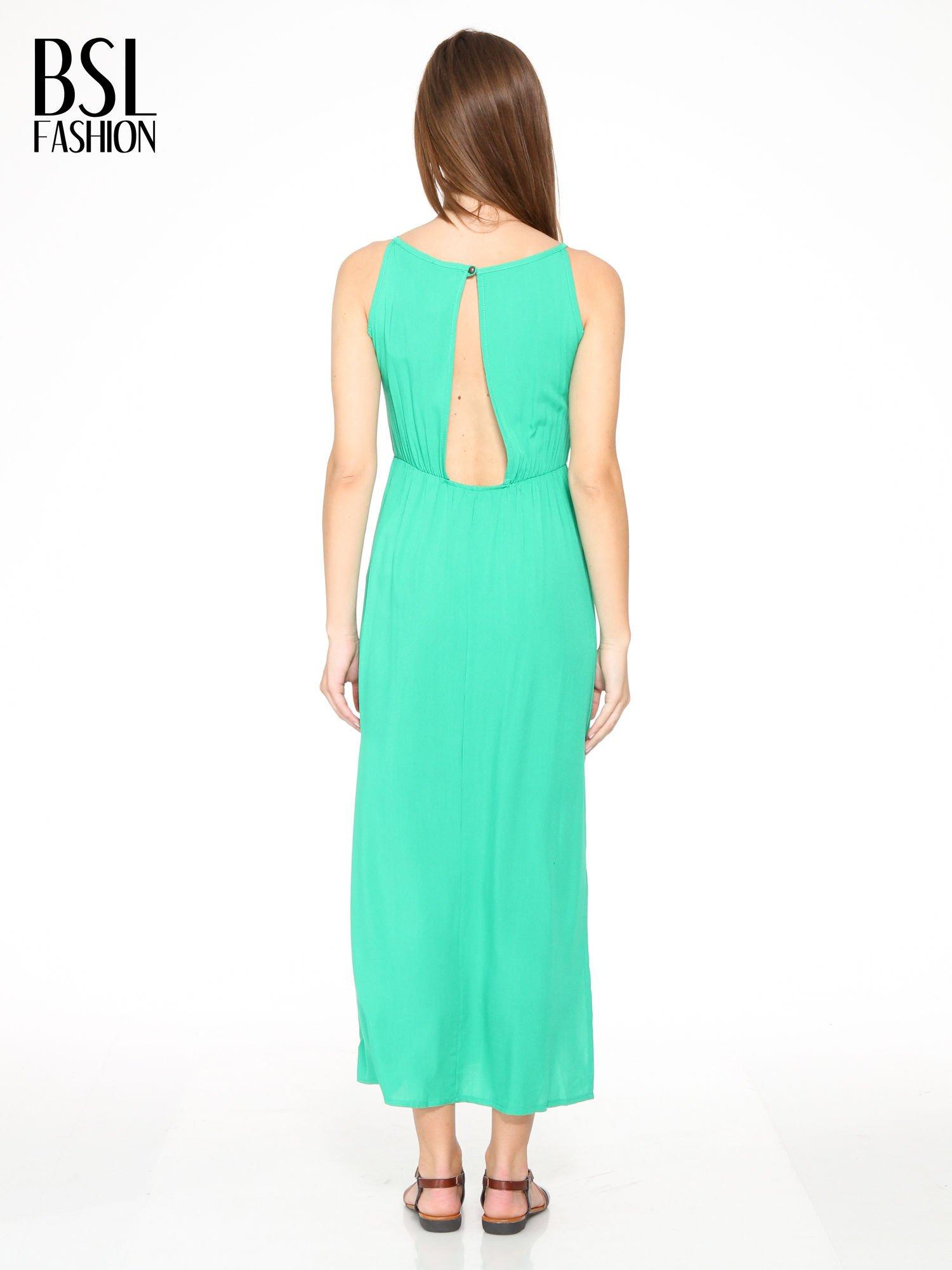 Zielona sukienka w stylu greckim                                  zdj.                                  3