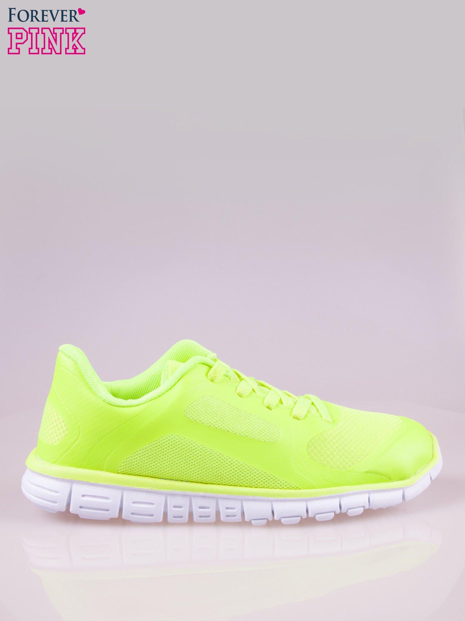 Zielone buty sportowe damskie z podeszwą z rowkami flex                                  zdj.                                  1
