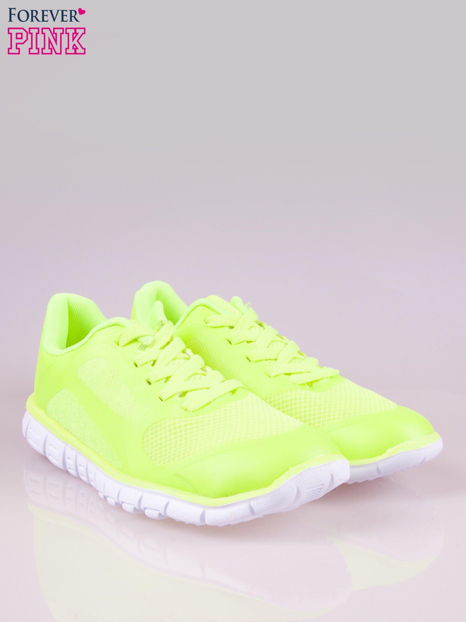 Zielone buty sportowe damskie z podeszwą z rowkami flex                                  zdj.                                  2