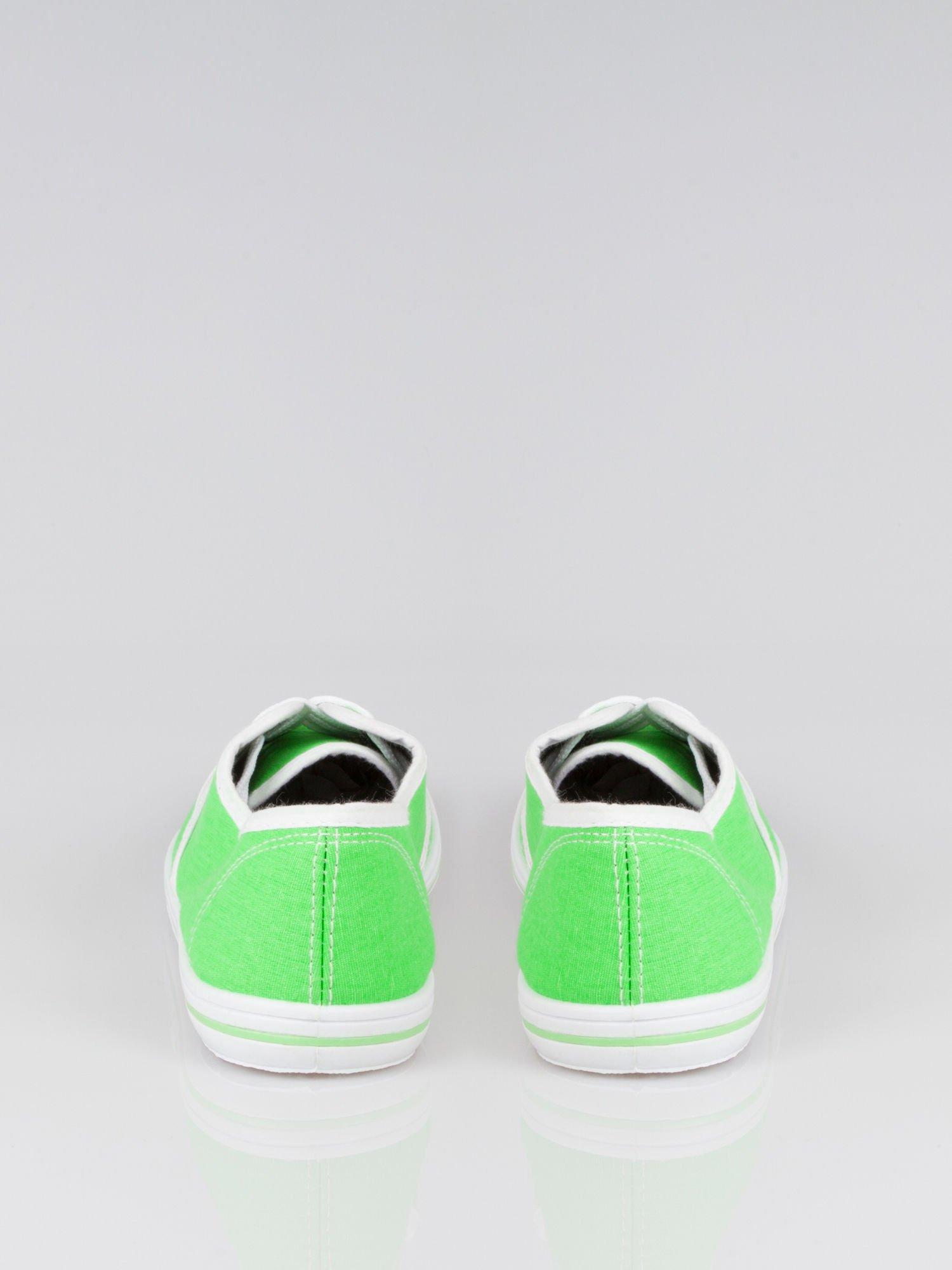 Zielone damskie tenisówki przed kostkę Jen                                  zdj.                                  3