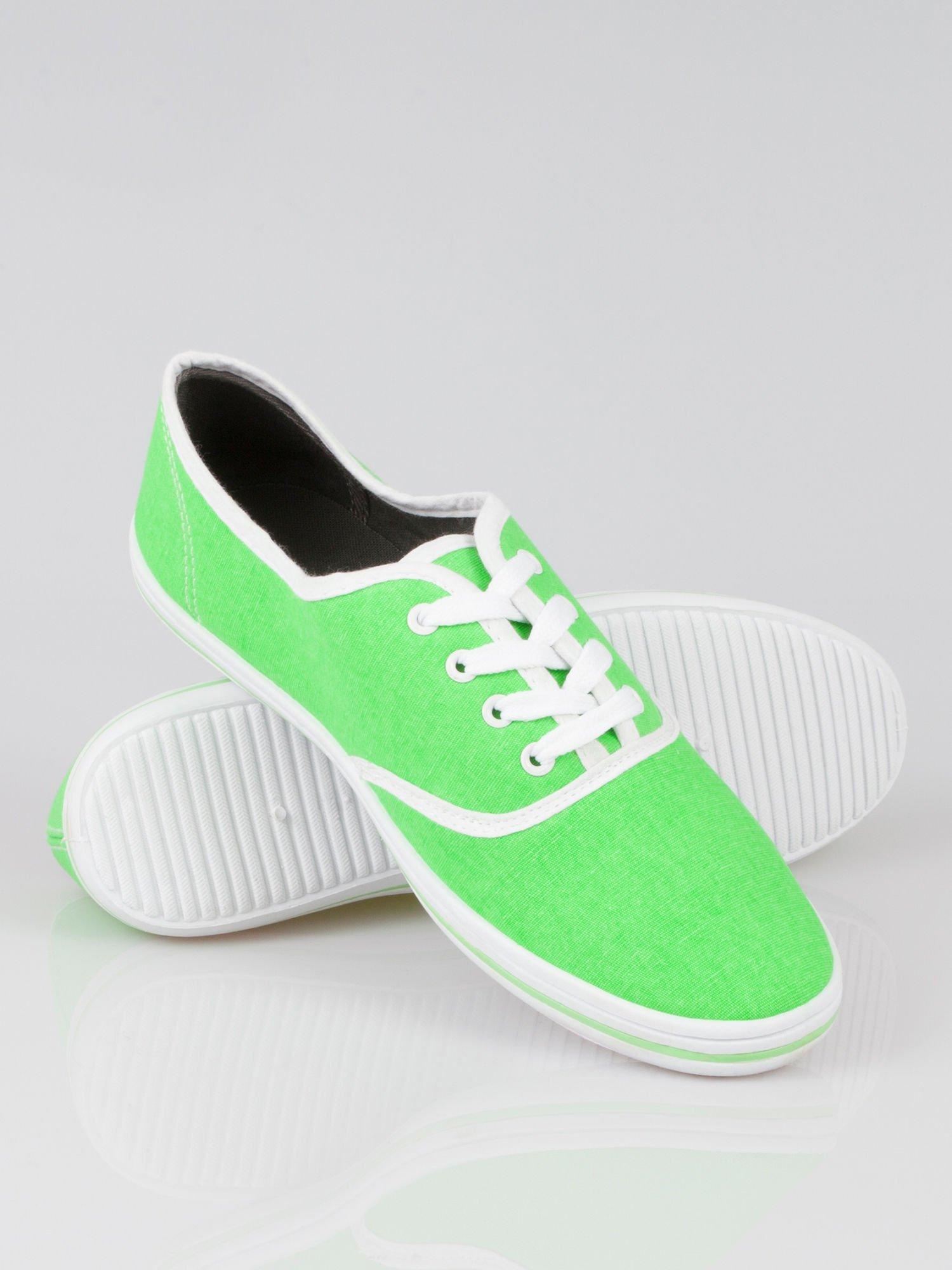 Zielone damskie tenisówki przed kostkę Jen                                  zdj.                                  4