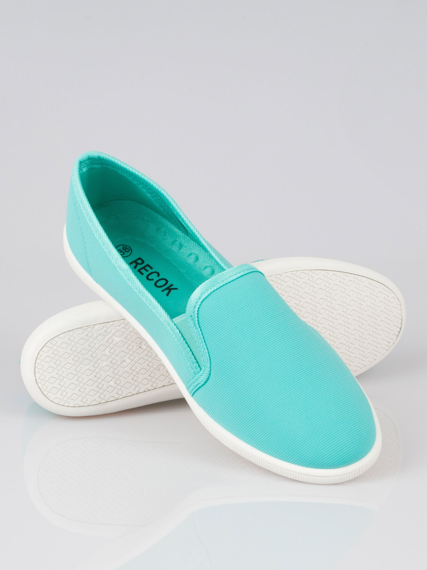 Zielone lekkie buty sliponki                                  zdj.                                  1