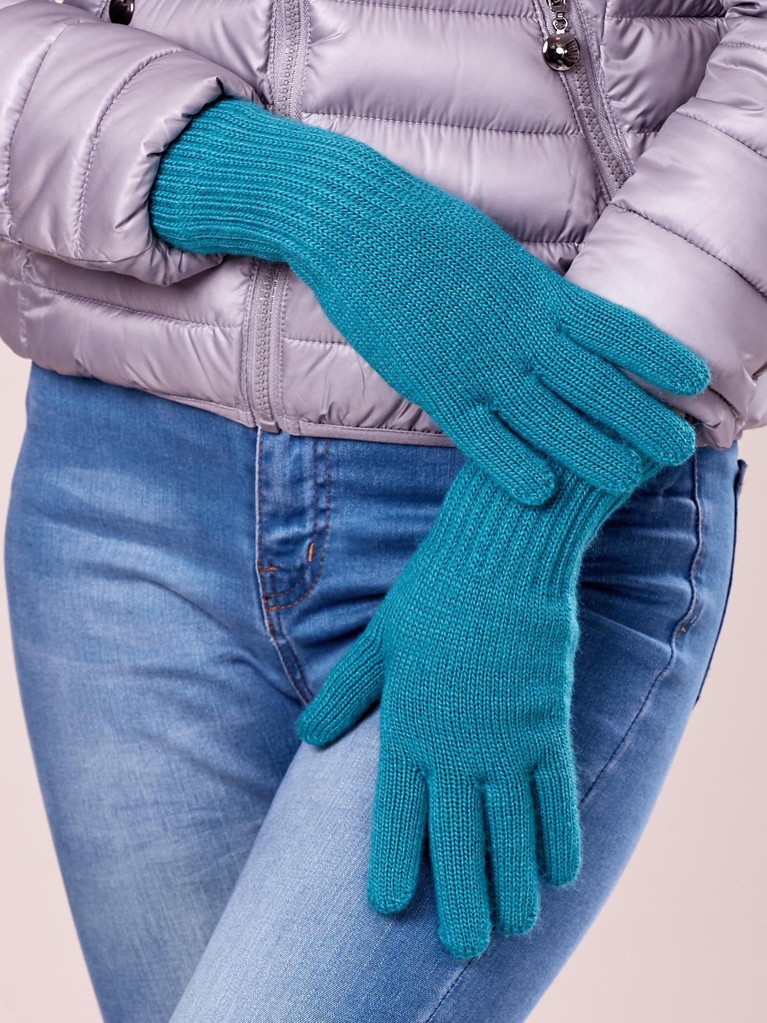 Zielone rękawiczki z długim ściągaczem                                  zdj.                                  1