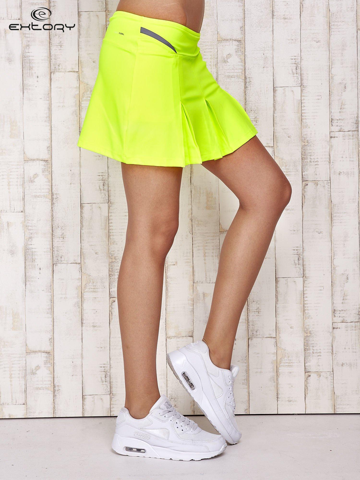 Zielone spodenki spódniczka tenisowa z szarymi wstawkami                                  zdj.                                  3