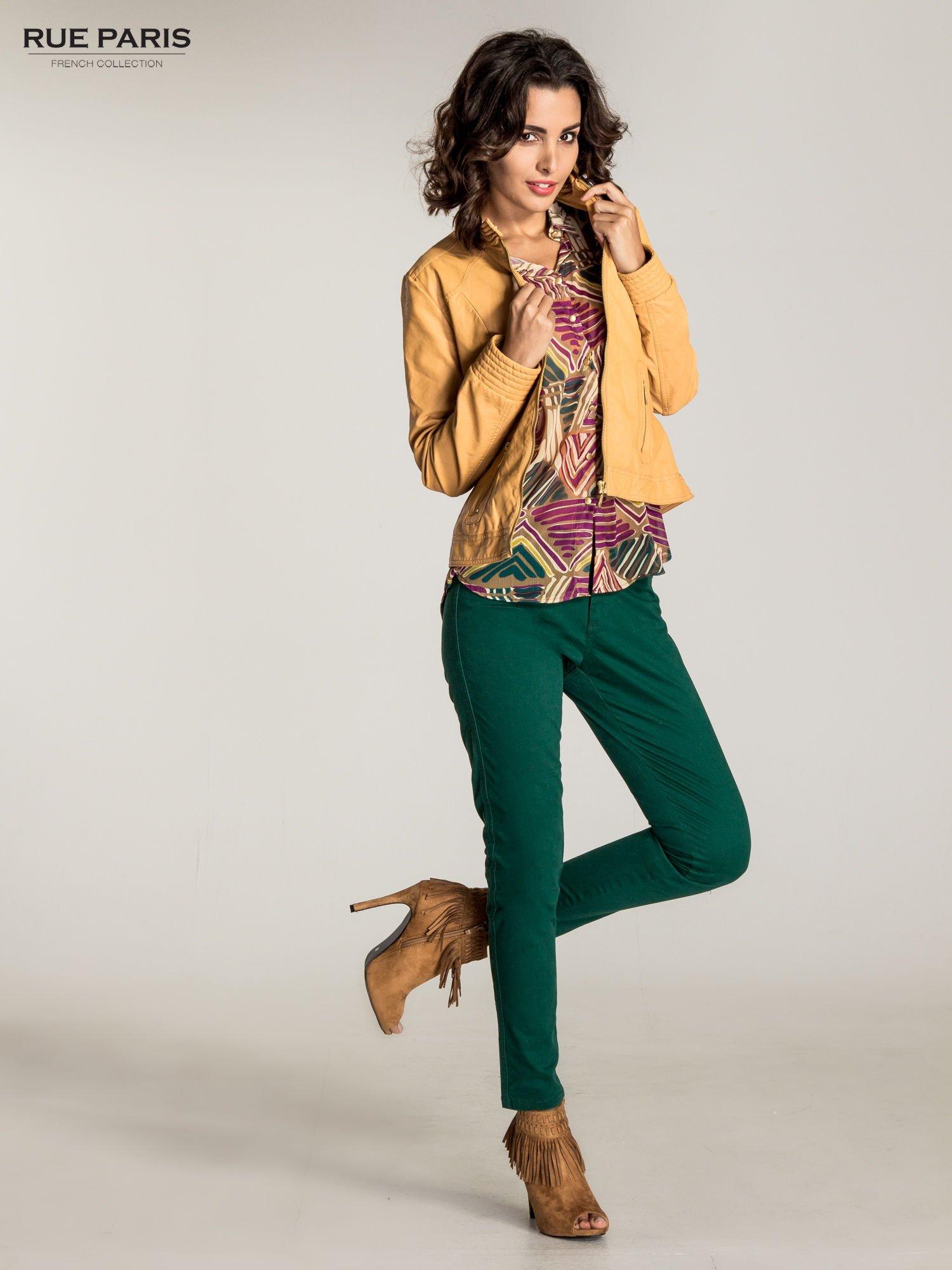 Zielone spodnie materiałowe w stylu chinos                                  zdj.                                  9
