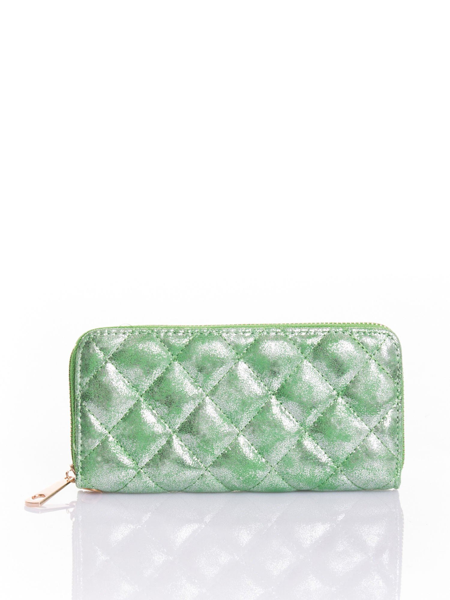 Zielony pikowany portfel                                  zdj.                                  1