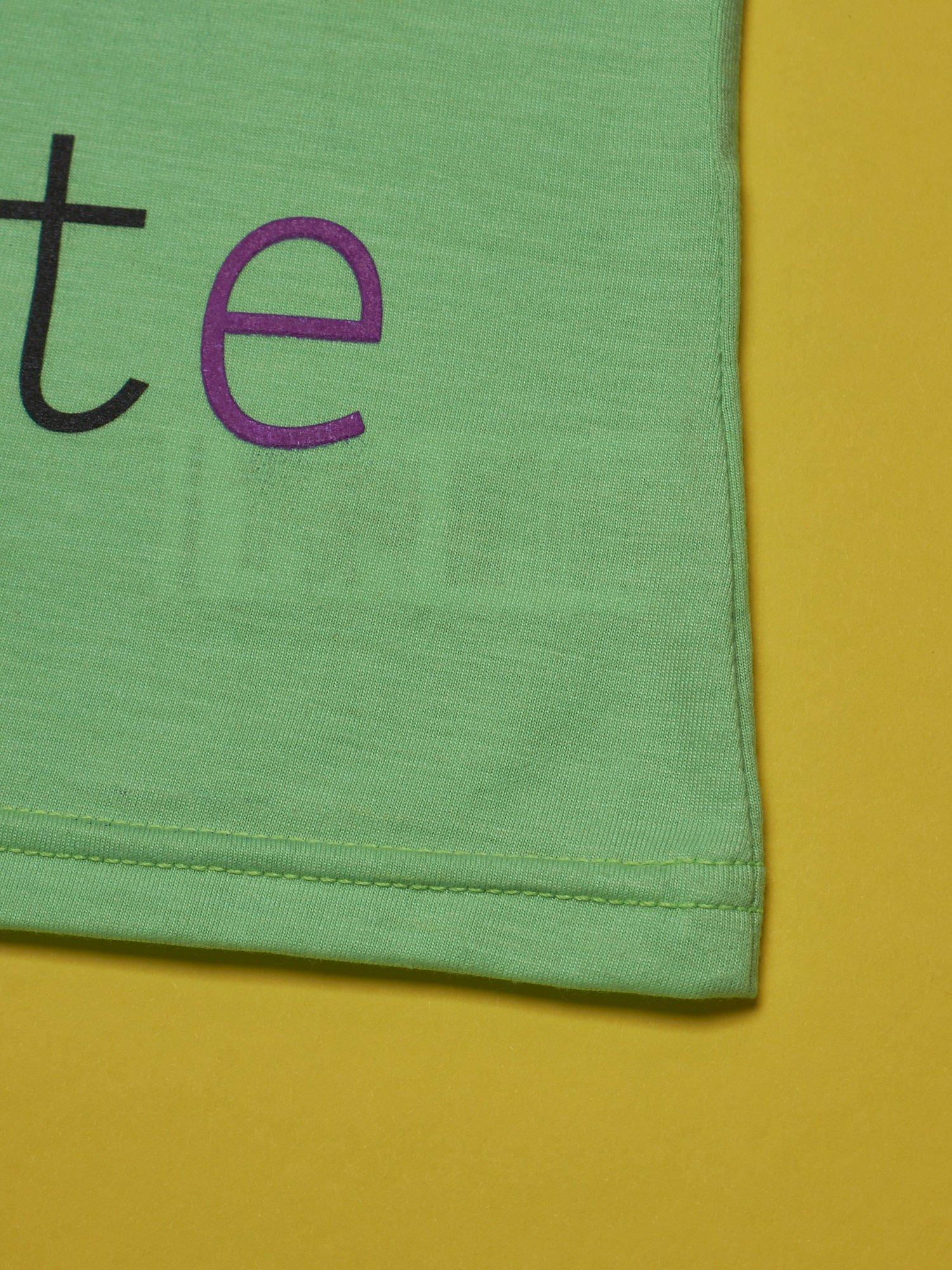 Zielony t-shirt dla dziewczynki HELLO KITTY                                  zdj.                                  5