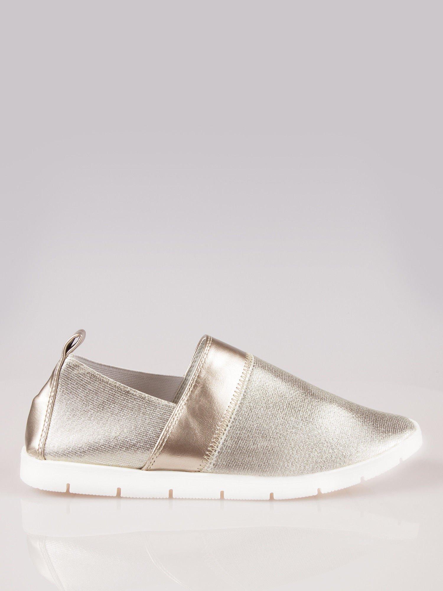 Złote buty slippers Dakota na traktorowej podeszwie                                  zdj.                                  1