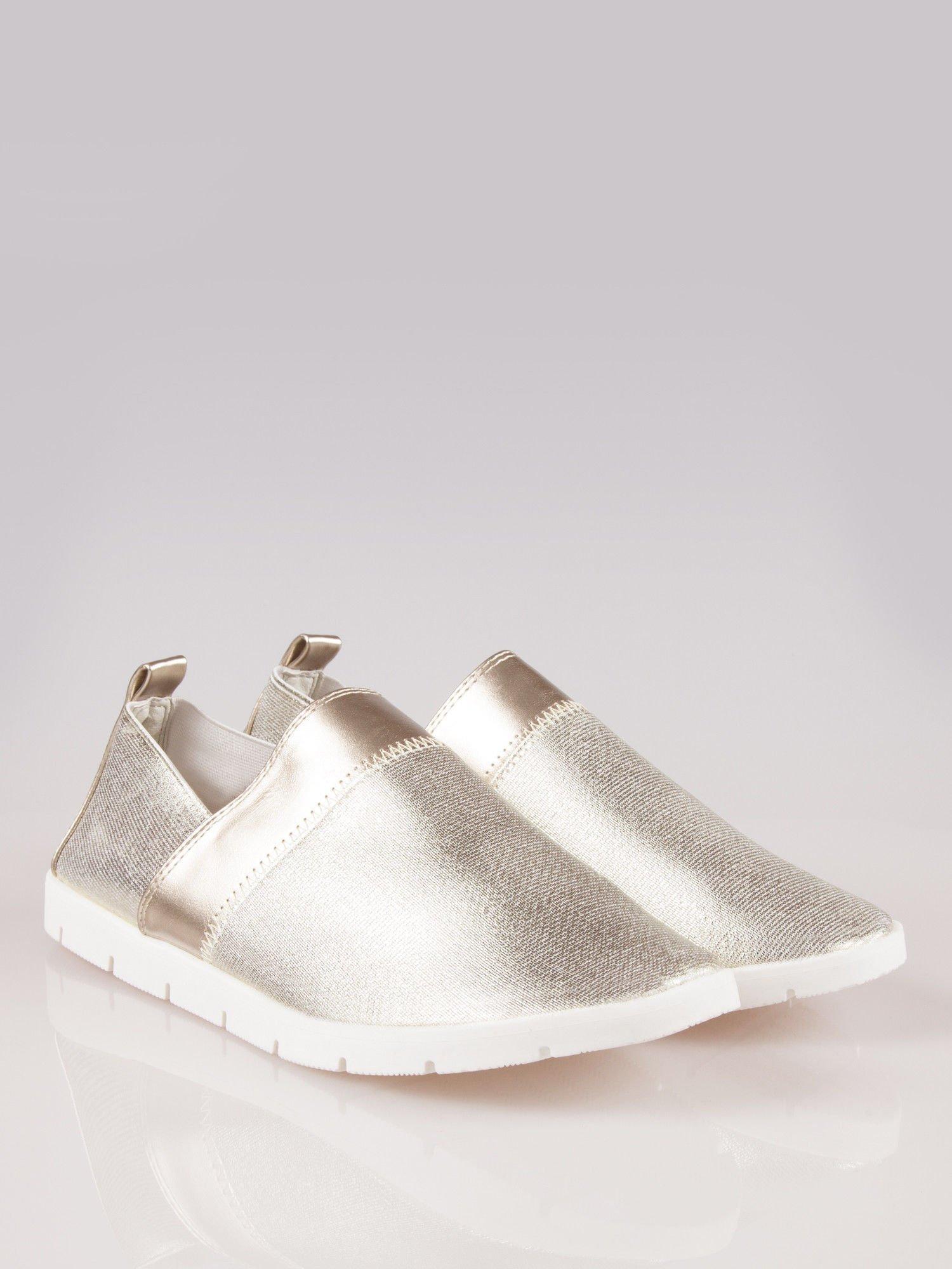 Złote buty slippers Dakota na traktorowej podeszwie                                  zdj.                                  2