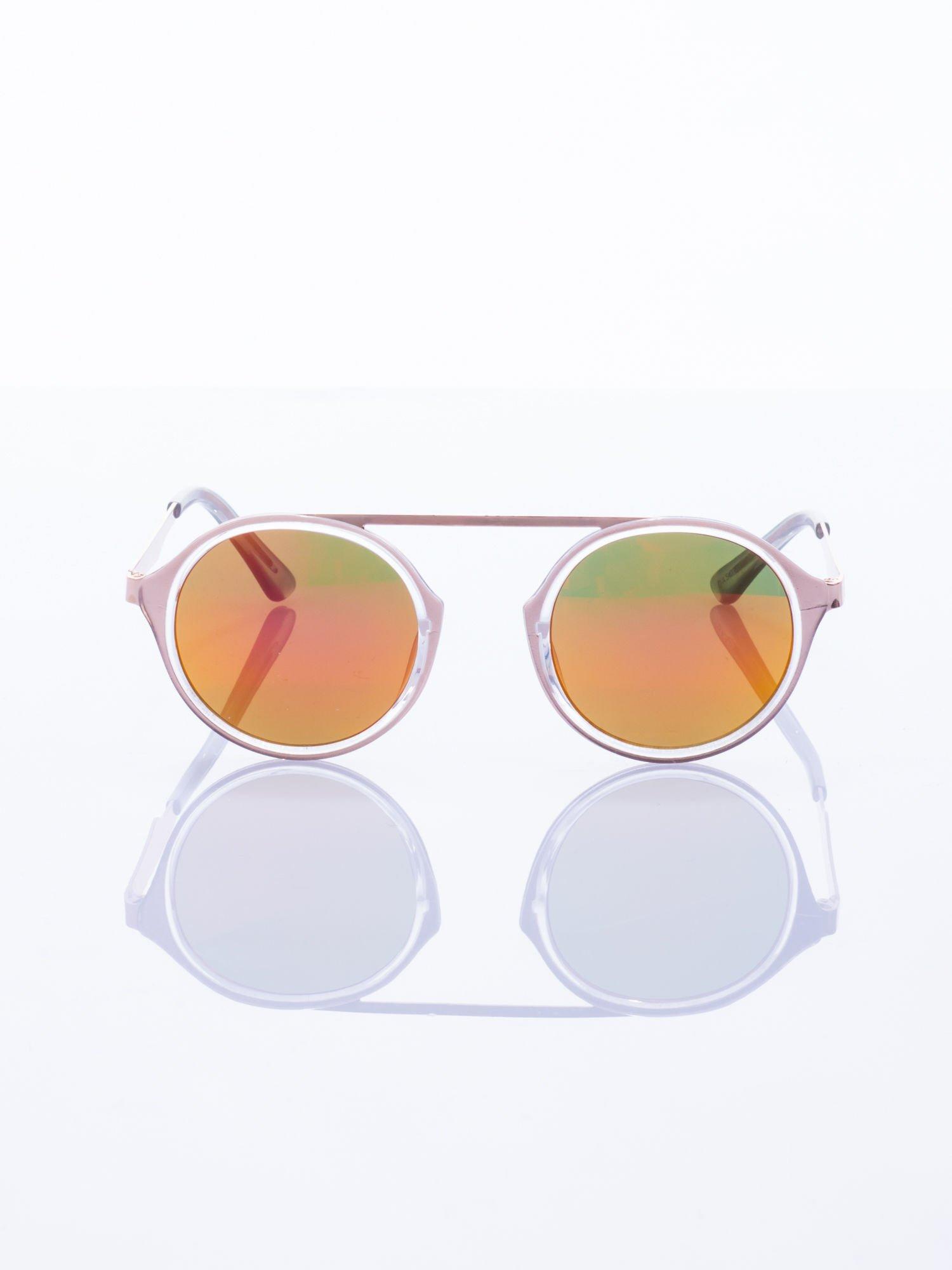 Złote okulary przeciwsłoneczne w stylu vintage retro                                  zdj.                                  3
