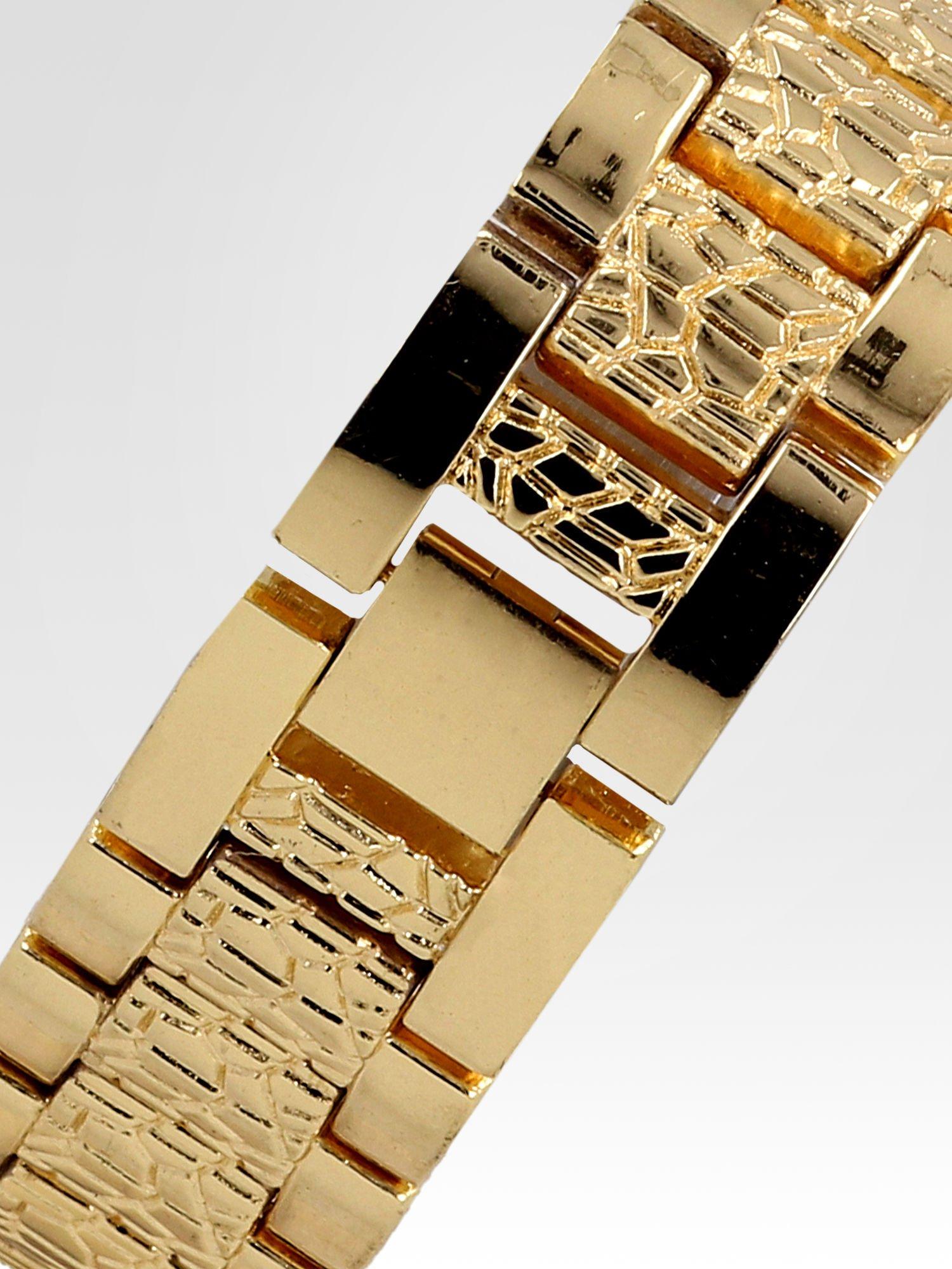 Złoty zegarek damski na bransolecie z cyrkoniową kopertą                                  zdj.                                  4