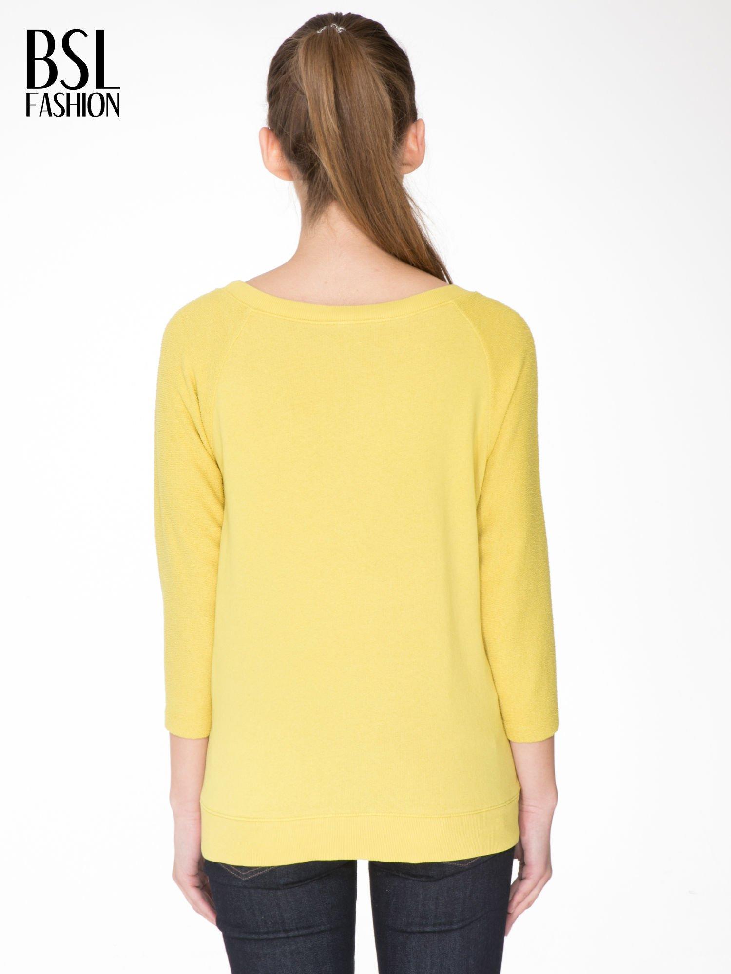 Żółta bluza oversize z łączonych materiałów                                  zdj.                                  4