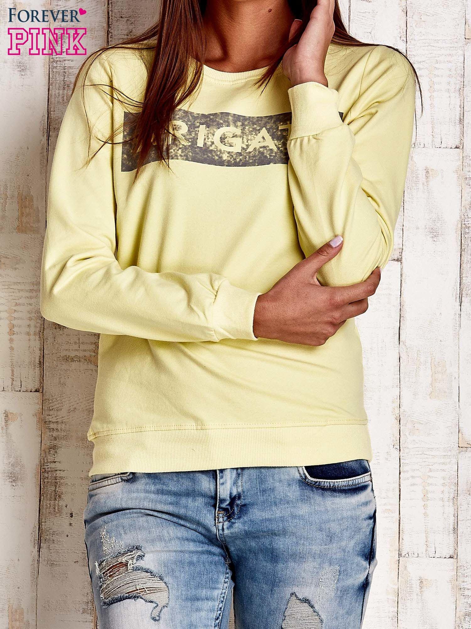 Żółta bluza z napisem ARIGATO                                  zdj.                                  1