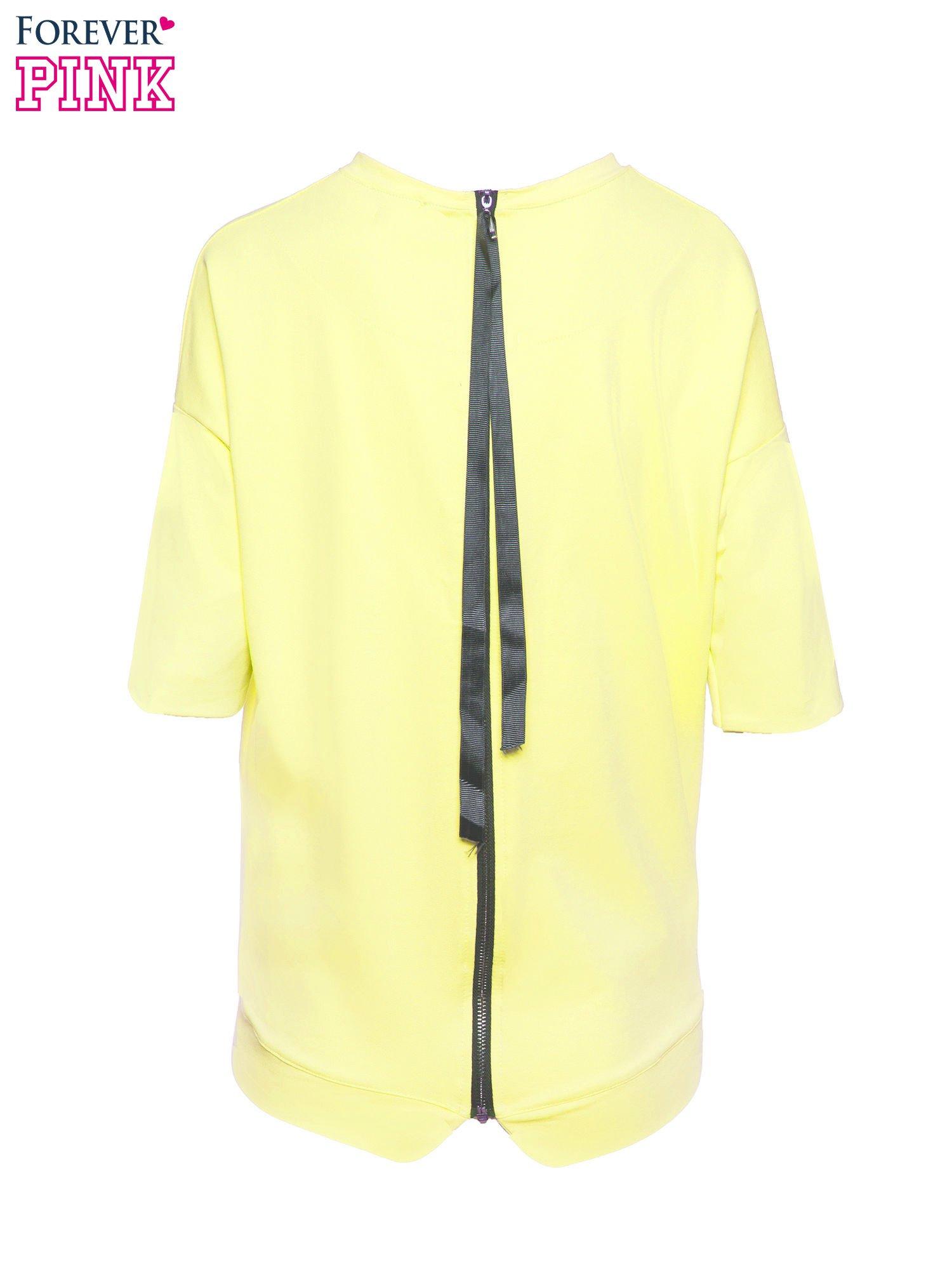 Żółta bluza z suwakiem z tyłu                                  zdj.                                  3