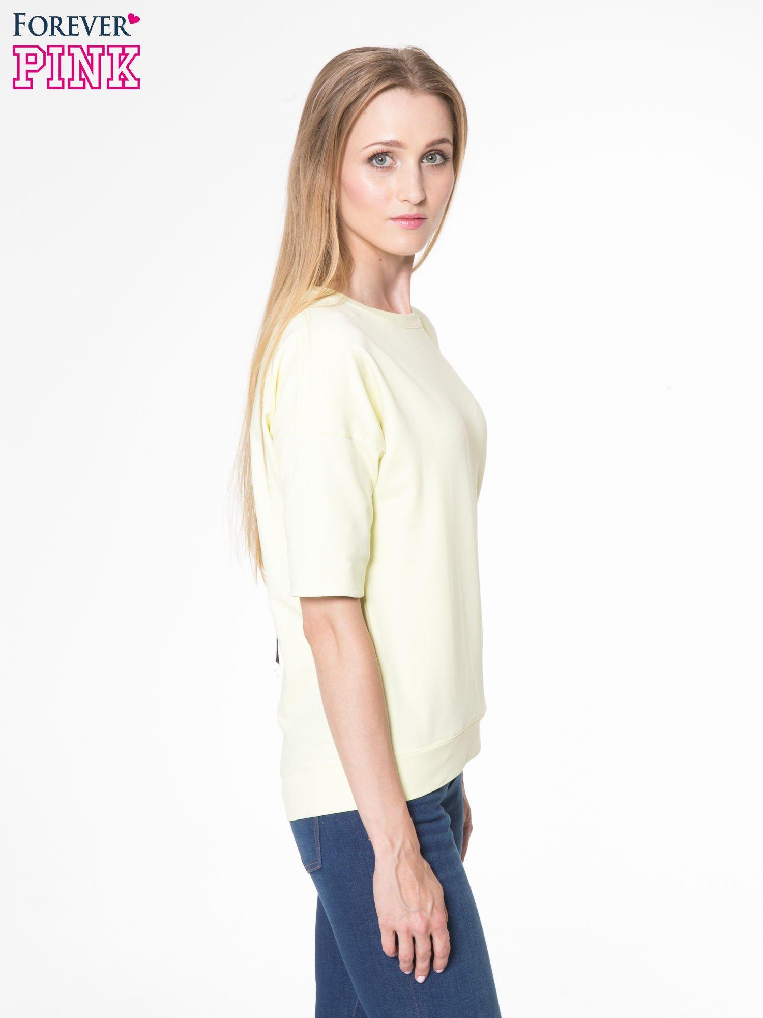 Żółta bluza z suwakiem z tyłu                                  zdj.                                  4