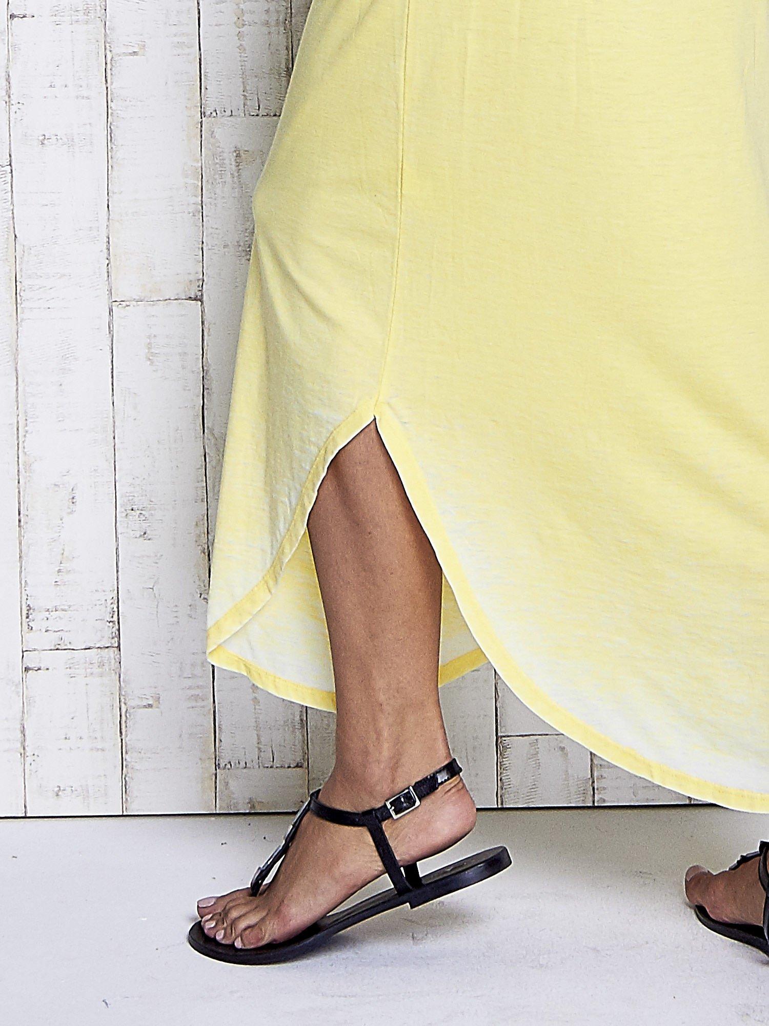 Żółta długa sukienka acid wash                                   zdj.                                  6