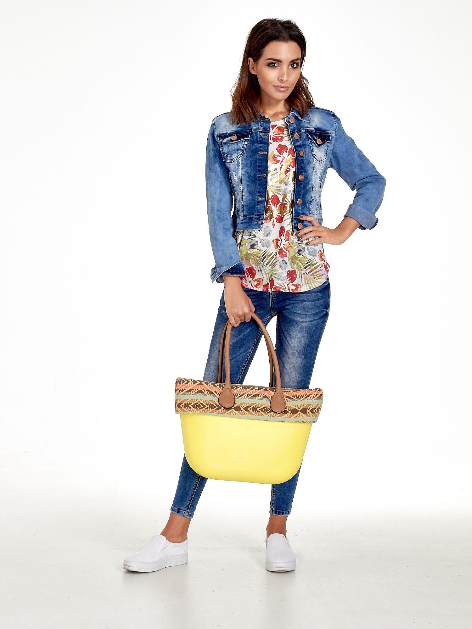 Żólta torba gumowa z motywem azteckim                                  zdj.                                  10
