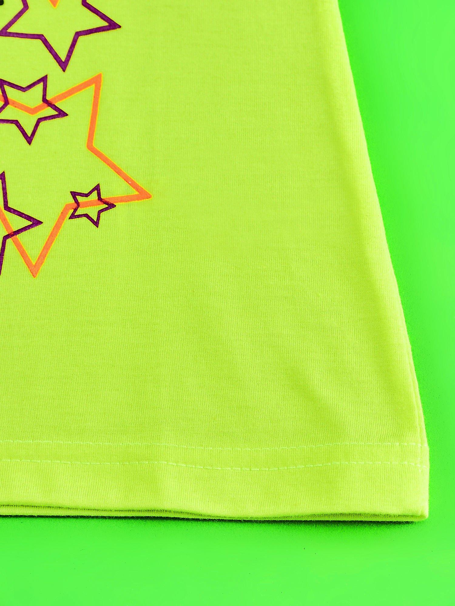 Żółty t-shirt dla dziewczynki HELLO KITTY z gwiadkami                                  zdj.                                  5