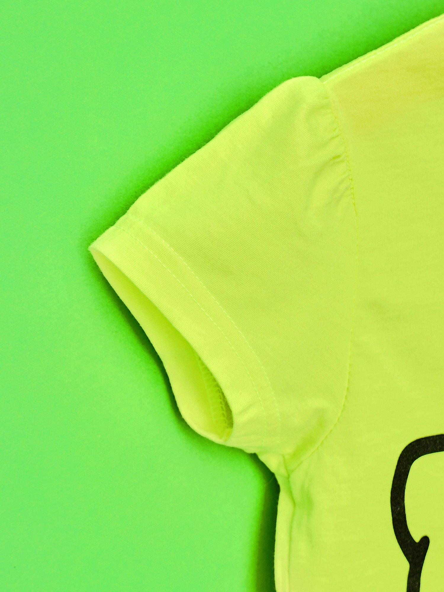 Żółty t-shirt dla dziewczynki HELLO KITTY z napisami                                  zdj.                                  6