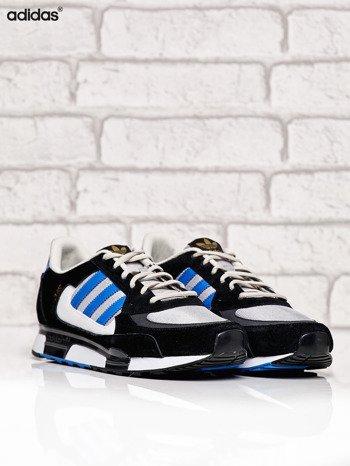 ADIDAS czarne buty męskie ZX 850 z niebieskimi modułami                              zdj.                              2