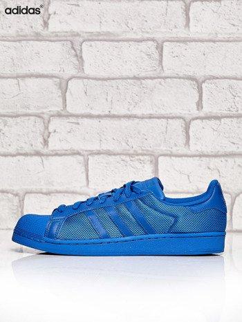 ADIDAS niebieskie buty męskie Superstar Blue z dziurkowaną fakturą                              zdj.                              5