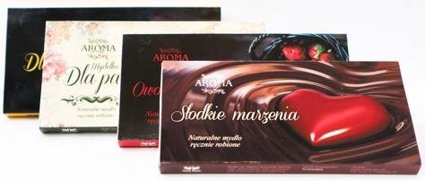AROMA Soap Zestaw prezentowy 3 naturalne mydelka SŁODKIE MARZENIA 3 x 50 g                              zdj.                              2