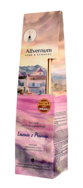 """Allvernum Home & Essences Dyfuzor z patyczkami zapachowymi Lawenda z Prowansji  50ml"""""""