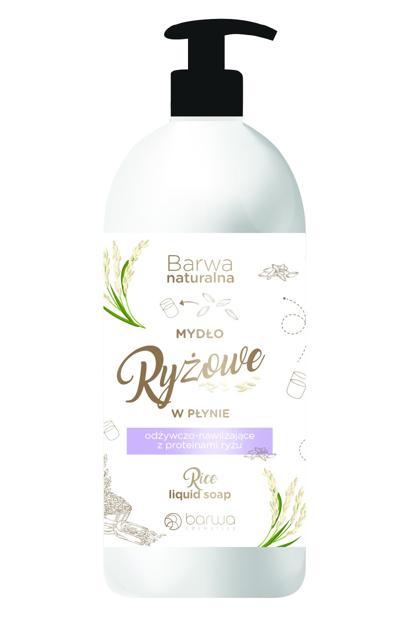 """BARWA Naturalna Ryż Mydło w płynie odżywczo - nawilżające 500ml"""""""