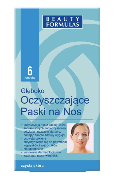 """Beauty Formulas Skin Care Głęboko oczyszczające paski na nos"""""""
