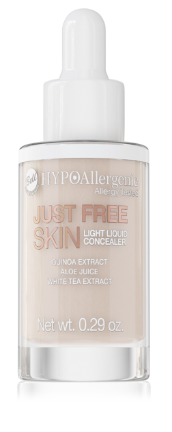 "Bell Hypoallergenic Korektor w płynie Just Free Skin Light Liquid Concealer nr 02 Fresh 8.5g"""