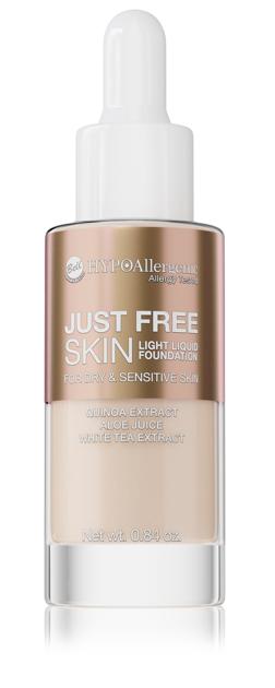"""Bell Hypoallergenic Podkład Just Free Skin Light Foundation nr 02 Natural  24g"""""""