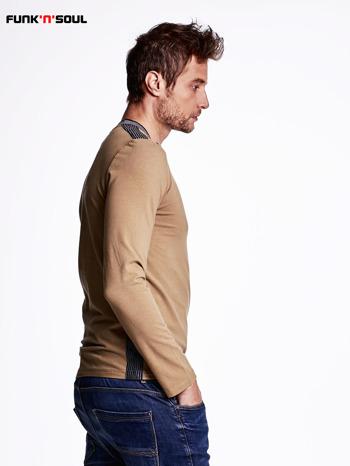 Beżowa bluza męska z napami FUNK N SOUL                                  zdj.                                  3