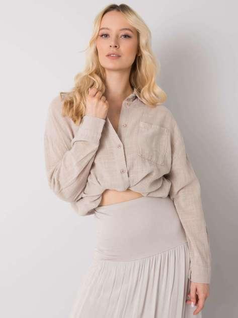 Beżowa koszula bawełniana Etta OCH BELLA