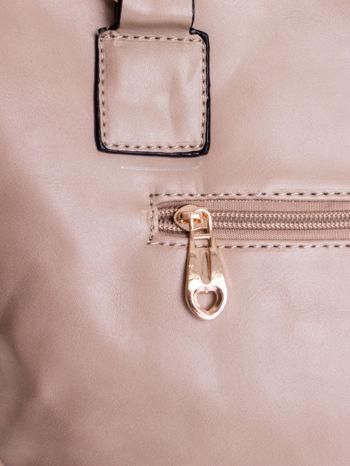 Beżowa pikowana torba na ramię                                  zdj.                                  8