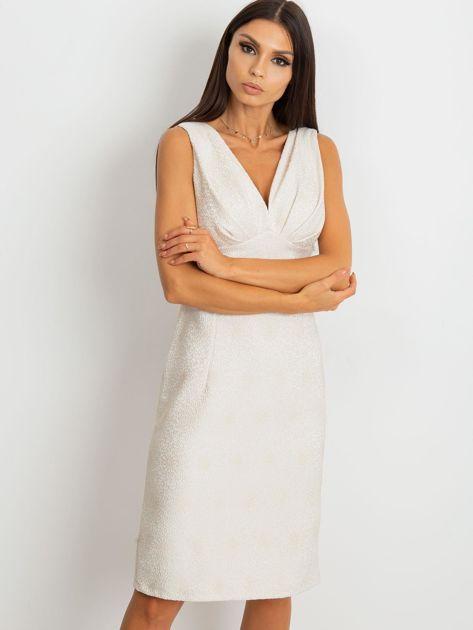 Beżowa sukienka Lalima                              zdj.                              3